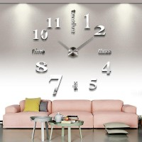 Белые акриловые часы самоклейка на стену.