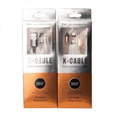 Магнитный кабель X-cable Round для Micro USB и Type C