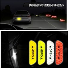 Светоотражающая лента на двери авто