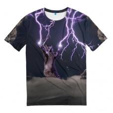 """Мужская футболка 3D """"Грозовой кошак"""""""