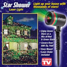 Лазерный проектор Star Shower Laser Light лазерная подсветка для дома.