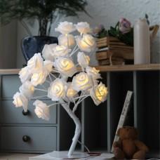 LED ночник роза