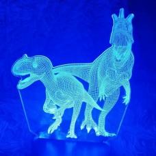 Светильник 3D Динозавры
