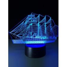 Светильник 3D Корабль