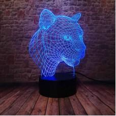 Светильник 3D Леопард