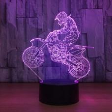Светильник 3D Мотоцикл