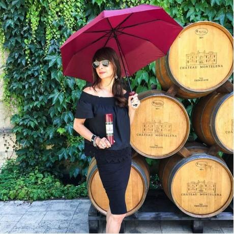 Зонтик в виде бутылочки «красного» VINRELLA